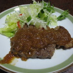 大黒屋 そば店 - 【晩酌定食】牛肉のステーキ