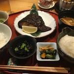 旬の味 たき下 - 黒むつの柚香焼き ¥1295 お味噌汁は麩と茄子 2016/10/07(金)訪問