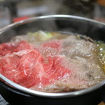 まるぶん - 米沢牛 牛鍋定食