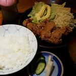 丸屋 - から揚げ定食 2016.9