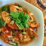 月のとき - 小エビのフリッターと京野菜の中華丼