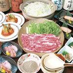 一楽土 - 忘年会料理コース3150円。飲み放題込み5000円。4000円~