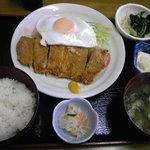 くぅーたこ焼お好み焼の店 - 日替わり(ミルフィーユカツ)