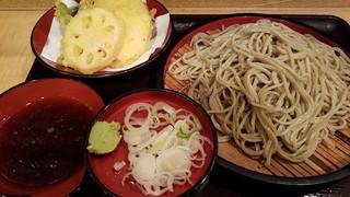 つぼみ家 四谷店 - 野菜天ざる 2016.10