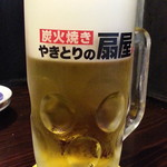 やきとりの扇屋 - 生ビール430円はスーパードライ