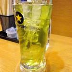 一軒め酒場 - 緑茶割り