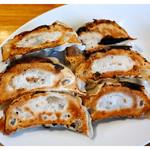 大むら食堂 - 「餃子6個」… 美味しいけどCPは低め(2016.10)。