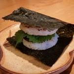 蛇の目鮨 - 「まぐろの味噌飯バーガー (300円)」♪