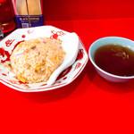 大門 - 半チャーハン、スープ付き410円