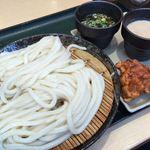 はなまるうどん - (2016.8)二色ざるうどん+鶏唐揚