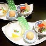にんにん - デザート盛り合わせ(和・中)