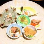 にんにん - 和食と中華の前菜盛り合わせ(和・中)