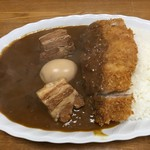 ジャンカレー - 「豚角煮カレー」950円&「トッピングカツ」280円