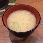 MADE IN JAPAN かにチャーハンの店 - かにの味噌汁。       うまし。
