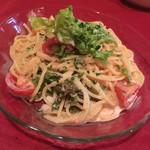 ベーネレガーロ - 明太子と野菜冷製スパゲティ 1180 これは絶品。お値段相当です。