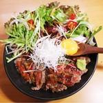 野菜たっぷりステーキ丼 並(150g)