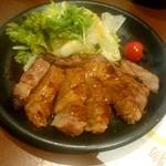 ひびき黒豚劇場 - 彩の国黒豚 秘伝のみそ漬けソテー:980円