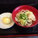 はやし家製麺所 - ぶっかけ470円 +半熟玉子120円