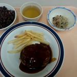 農学部食堂 - 照り焼きソースハンバーグ:300円