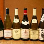 柳家 - 今回の料理と頂いたワインと日本酒