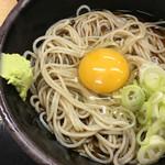 ゆで太郎 - 麺、つゆ、生玉、ねぎ、わさび(もりどんぶり)