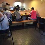 菜良 - 店内風景 カウンター席のみで9〜10名座れる感じです