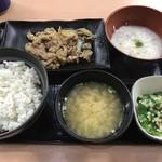 吉野家 - 麦とろ牛皿御膳(580円)_2016年9月