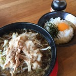 神戸ちぇりー亭 - 醤油らぁめん 卵かけご飯セット