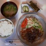 カフェ&バー 琥珀 - 焼肉定食(950円)