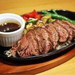 ハラミ鉄板ステーキ定食