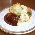 西洋軒 - 料理写真:ハンバーグとカニコロッケのプレート