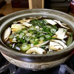 仙洛 - 料理写真:松茸入り投汁登場〜⤴︎(結構入ってますよ)