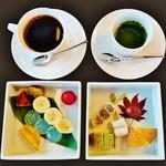 57146823 - 『祇園フォンデュ』(1458円)と『コーヒー』(648円)~♪(^o^)丿