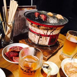 仙台牛焼肉 と文字