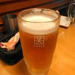 やきとり家すみれ - 生ビール(小グラス290円)