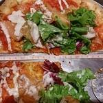 57156863 - スモークサーモンとシーザーサラダのピザ1944円