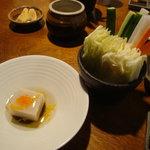はん亭 根津本店 - 里芋豆腐と野菜各種