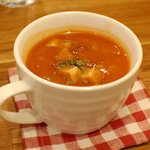 マグズカフェ - セットのスープ