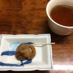福也 - お口直しの栗と、ほうじ茶