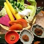 57162309 - 朝もぎ野菜のがぶりつき(770円)
