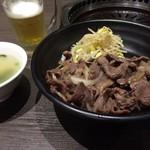 57162659 - 短角牛カルビ丼&ランチビール