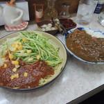 熊公 - ジャージャー麺+カレーセット