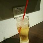 まつちか ステーキ食堂 - ジンジャーエールと携帯用の食事(^^;