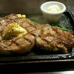 まつちか ステーキ食堂 - リブステーキ300g