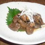 焼とり 鳥玄 - ちぎもの生姜煮  680円 レバーを生姜と共に甘辛く煮込みました。
