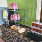 治部坂高原ジャム工房 - コーヒー・紅茶・緑茶が無料になっている。