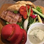 57173779 - ランチ:具沢山の野菜とベーコンのバーニャカウダ950円