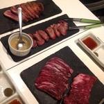 57176340 - ハラミとカルビと牛タンと鴨肉