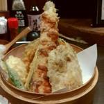 57177641 - ちくわとなすの天ぷらがタリーのように立ってます!