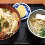 ちから - 天とじ丼(600円)、丼セット(+230円)